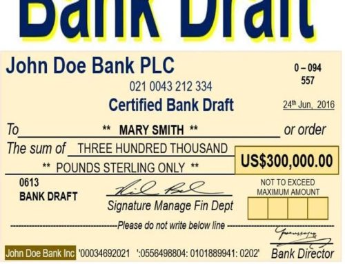 تهیه بانک درفت (Bank Draft)